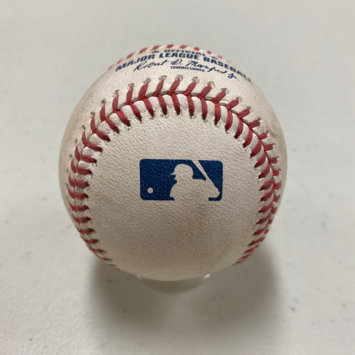 Photo of 2020 Game Used Baseball used on 8/25 vs. 2020 WS Champions Los Angeles Dodgers - T-1: Johnny Cueto to Justin Turner - Double to RF
