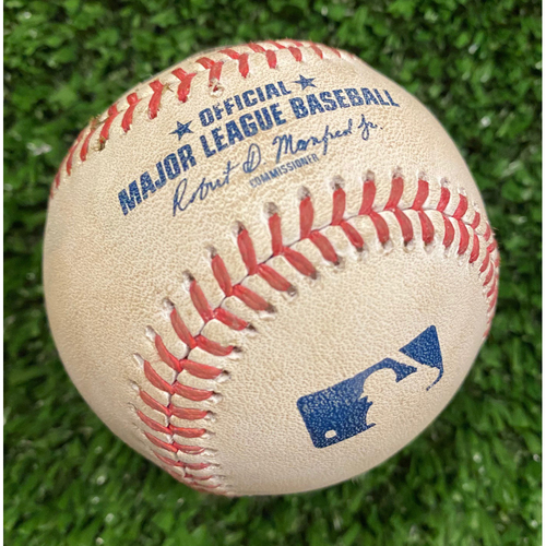 Photo of Freddie Freeman Game Used Hit Single Baseball, pitched by Nick Pivetta - September 27, 2020