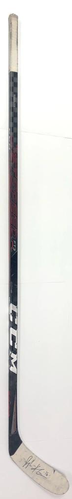 #16 Jujhar Khaira Game Used Stick - Autographed - Edmonton Oilers