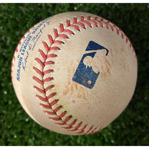 Photo of Kris Bryant Game-Used Hit Double Baseball - 4/29/21 vs. Chicago Cubs