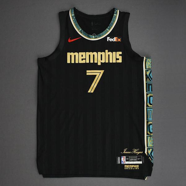 Image of Justice Winslow - Memphis Grizzlies - Game-Worn City Edition Jersey - Dressed, Did Not Play (DNP) - 2021 NBA Playoffs