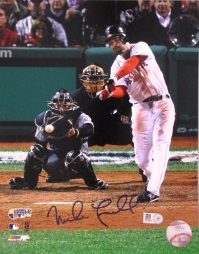 Photo of Mike Lowell Autographed '07 World Series 16x20