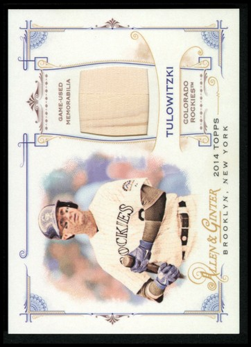 Photo of 2014 Topps Allen and Ginter Relics #FRBTT Troy Tulowitzki B