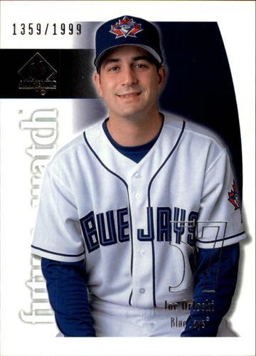 Photo of 2002 SP Authentic #95 Joe Orloski FW RC