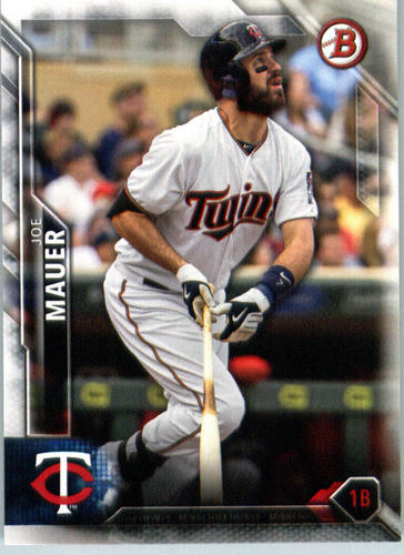 Photo of 2016 Bowman #54 Joe Mauer