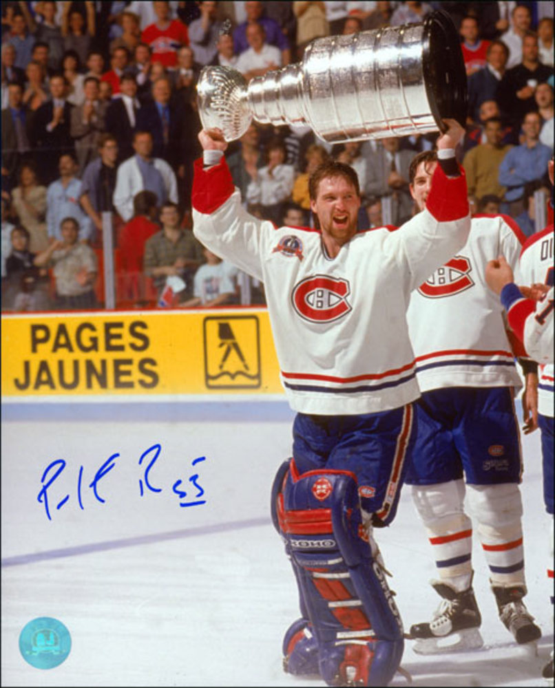 Patrick Roy Montreal Canadiens Autographed 1993 Stanley Cup 16x20 Photo