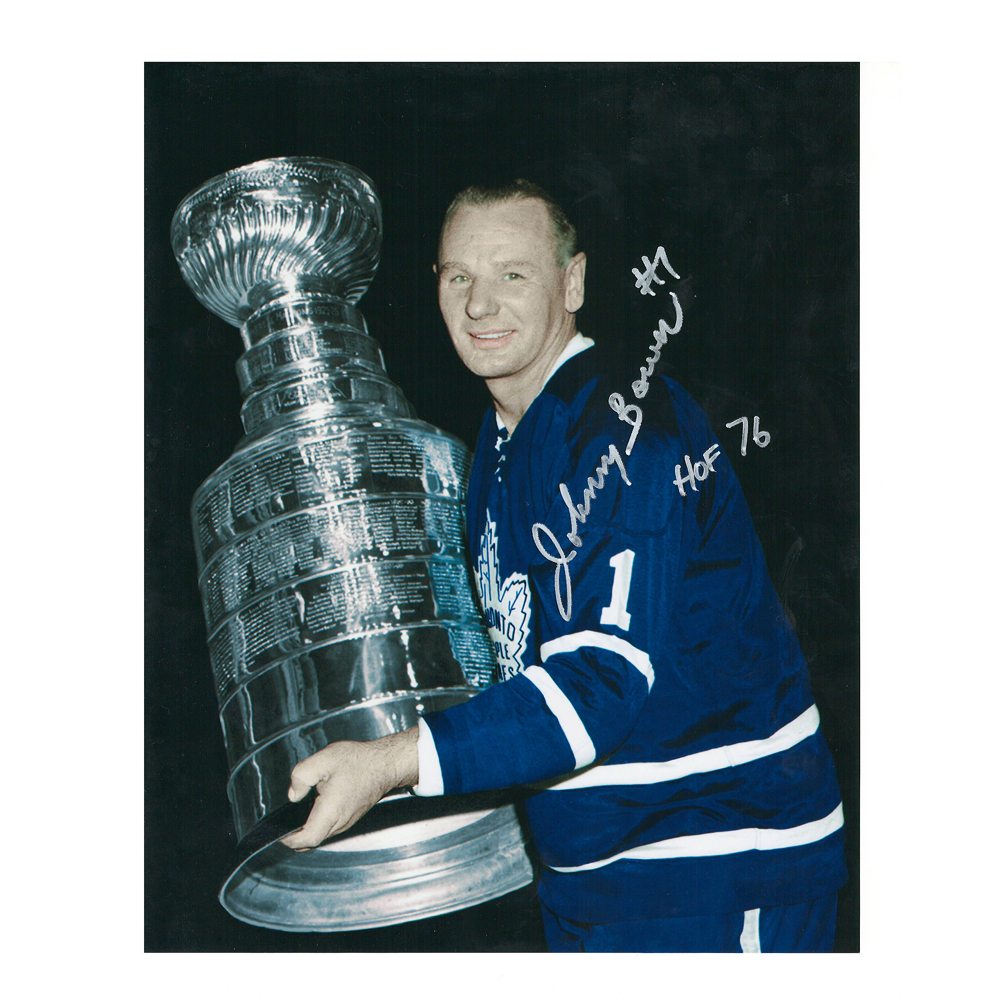 JOHNNY BOWER Signed Vintage Toronto Maple Leafs 8 X 10 Photo - 70445