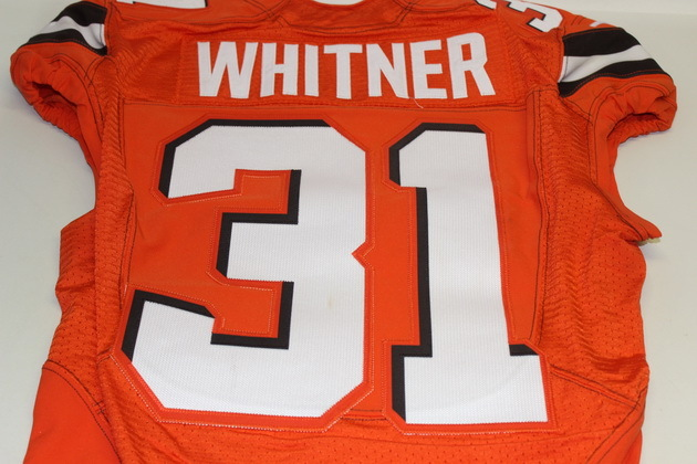 NFL Auction | STS - BROWNS DONTE WHITNER GAME WORN BROWNS JERSEY ...