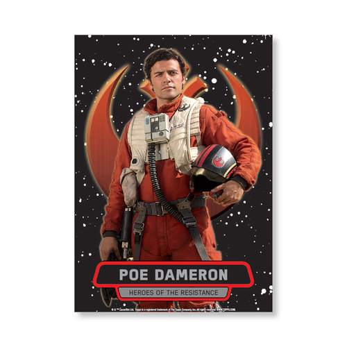 Poe Dameron TFA Series 2 HEROES OF THE RESISTANCE Poster - # to 99