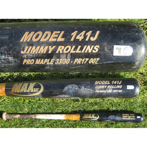 San Francisco Giants - Team Issued Broken Bat - Spring Training - Jimmy Rollins