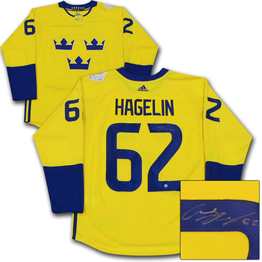 Carl Hagelin Autographed 2016 World Cup of Hockey Team Sweden Jersey