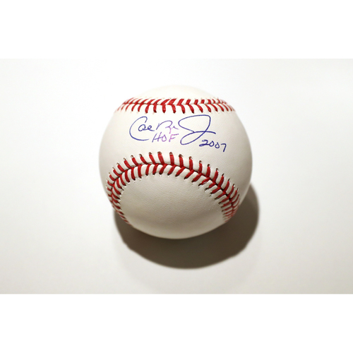 """Photo of Compton Youth Academy Auction: Cal Ripken Jr. Signed Inscribed """"HOF 2007"""" Baseball - Not Authenticated by MLB"""