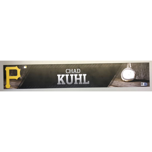 Photo of Chad Kuhl Game-Used Locker Name Plate