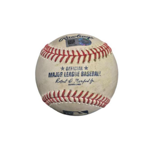Photo of Game-Used Baseball from Pirates vs. Phillies on 5/19/17 - Tommy Joseph RBI Sac Fly