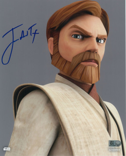 James Arnold Taylor as Obi-Wan Kenobi 8x10 Autographed in Blue Ink Photo