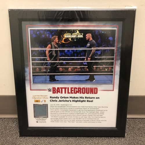 Photo of Randy Orton SIGNED Battleground 2016 Signature Series Ring Canvas Plaque (#4 of 5)