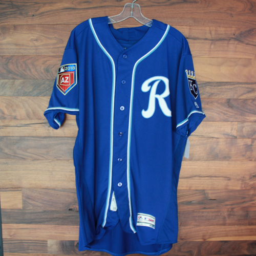 Photo of Team-Issued Spring Training Jersey: Chase Vallot (Size - 48)
