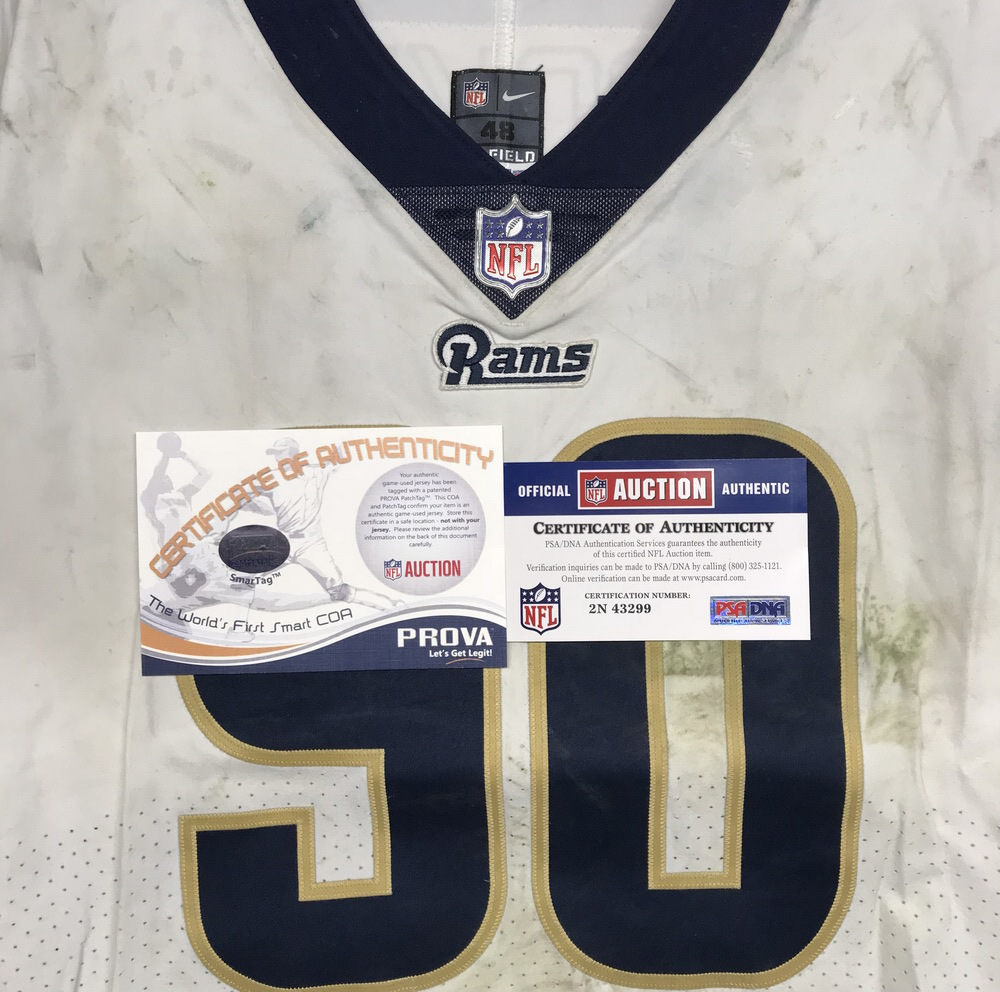 separation shoes 24296 a8789 NFL Auction | London Games - Rams Michael Brockers game worn ...