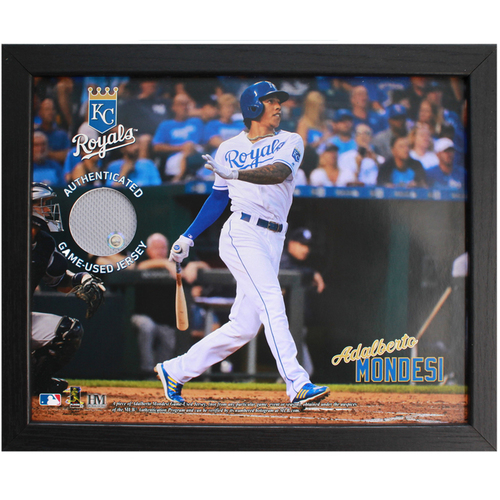 Photo of Game-Used Jersey Frame: Adalberto Mondesi