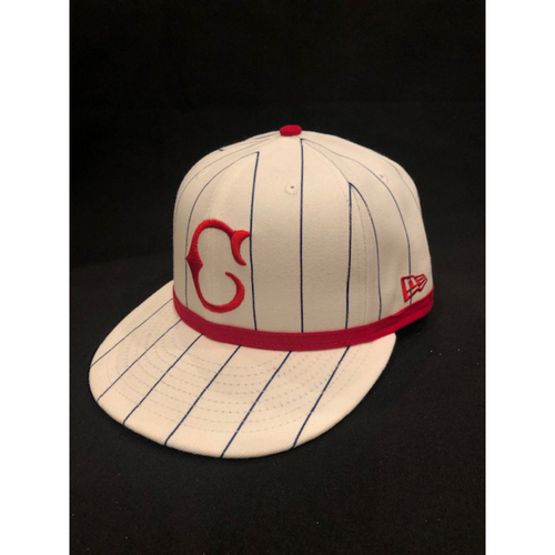 Photo of Amir Garrett -- Game-Used Cap -- 1919 Throwback Game -- Nationals vs. Reds on June 2, 2019 -- Size 7 1/4