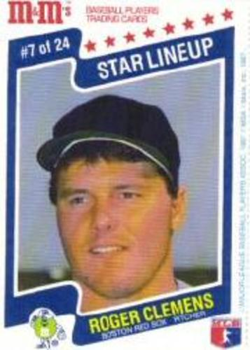 Photo of 1987 M and M's Star Lineup #7 Roger Clemens