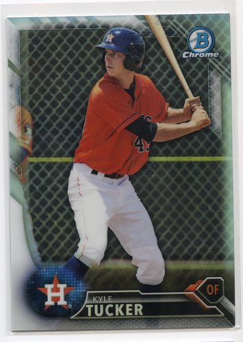 Photo of 2016 Bowman Chrome Prospects Refractors #BCP60 Kyle Tucker
