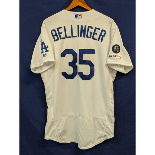 Photo of Cody Bellinger Team Issued 2019 Home Jersey