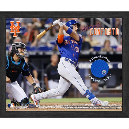 Photo of Michael Conforto Game-Used Jersey Plaque