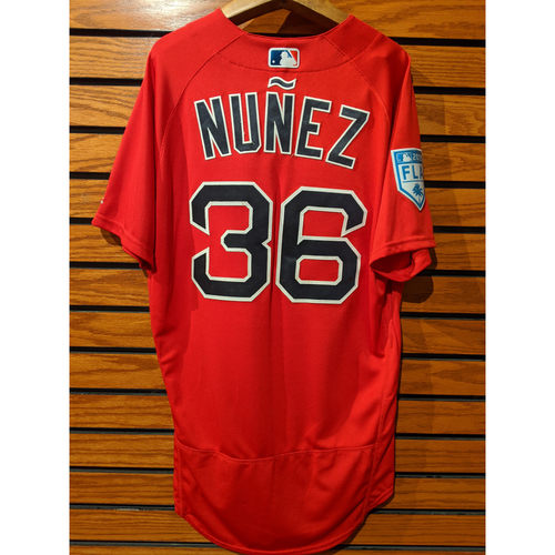 Photo of Eduardo Nunez Team Issued Red Spring Training Jersey