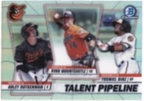 Photo of 2020 Bowman Chrome Talent Pipeline #TPBAL Ryan Mountcastle/Yusniel Diaz/Adley Rutschman