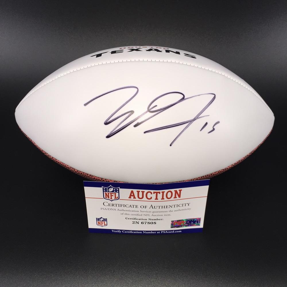 NFL - Texans Will Fuller Signed Panel Ball