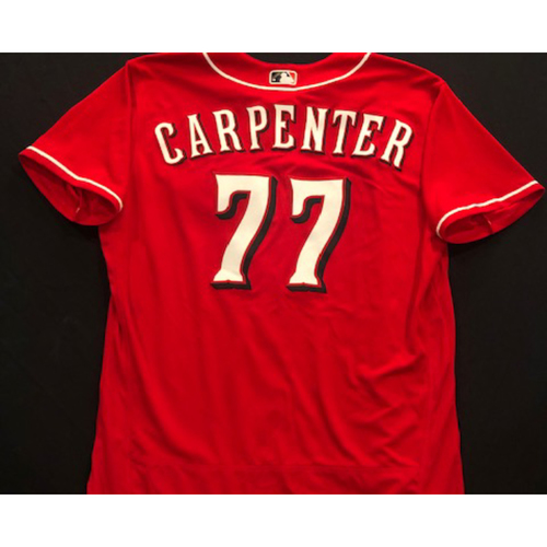 Photo of David Carpenter -- 2020 Spring Training Jersey -- Team-Issued -- Size 50