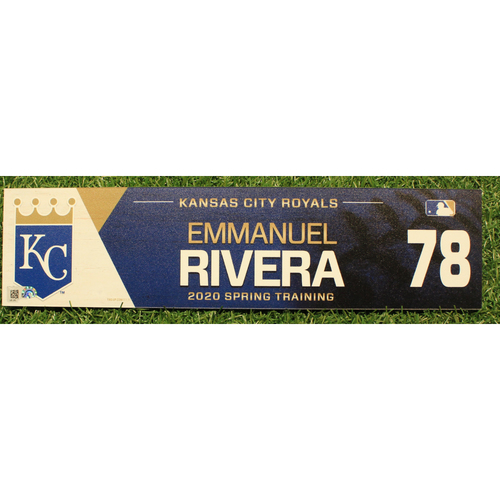 Photo of Game-Used 2020 Spring Training Locker Tag: Emmanuel Rivera #78