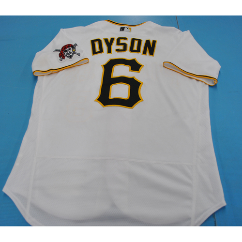 Photo of Game-Used Jersey - 7/27/2020 - MIL @ PIT - Jarrod Dyson 2020 Home jersey