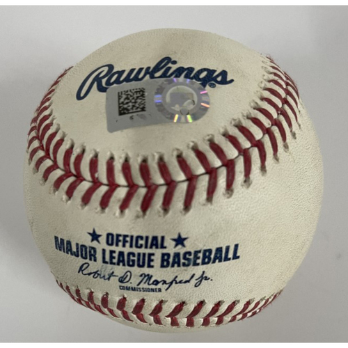Photo of Game-Used Baseball - Jordan Luplow Hit by Pitch from Jorge Alcala - 4/27/2021