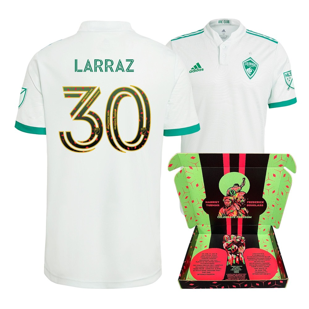 Oliver Larraz Colorado Rapids Player Issued-Used & Signed Juneteenth Jersey