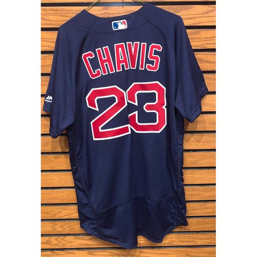 Photo of Michael Chavis Team Issued 2019 Road Alternate Jersey