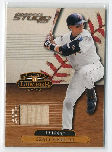 Photo of 2001 Studio Leather and Lumber #LL28 Craig Biggio