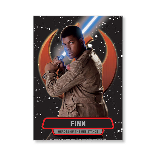 Finn TFA Series 2 HEROES OF THE RESISTANCE Poster - # to 99