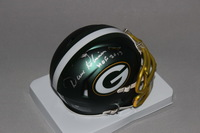 HOF - PACKERS DAVE ROBINSON SIGNED PACKERS BLAZE MINI HELMET