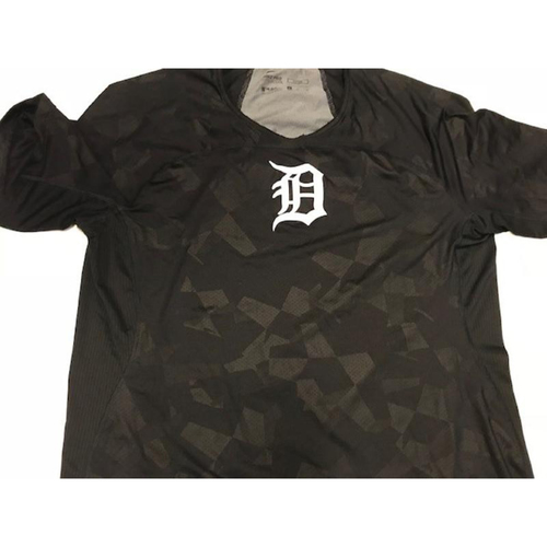 Team-Issued Justin Verlander Black Dri-Fit T-Shirt