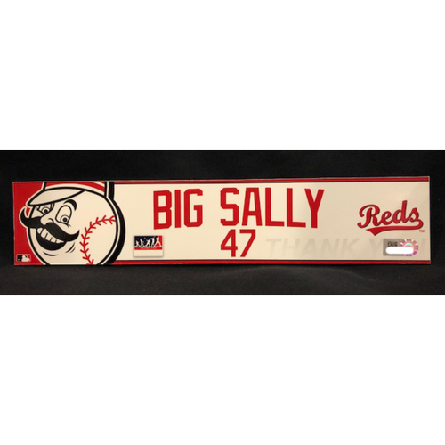 "Photo of Sal Romano - ""BIG SALLY"" Team-Issued Locker Tag - Used During Players Weekend Games"