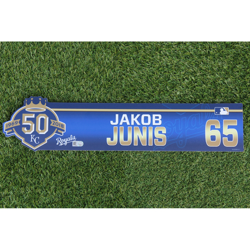 Photo of Game-Used Locker Nameplate: Jakob Junis