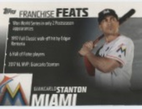 Photo of 2019 Topps Franchise Feats #FF15 Giancarlo Stanton