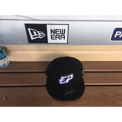 Photo of El Paso Victims Relief Fund Auction San Diego Padres Signed Adrian Morejon El Paso Chihuahuas Hat