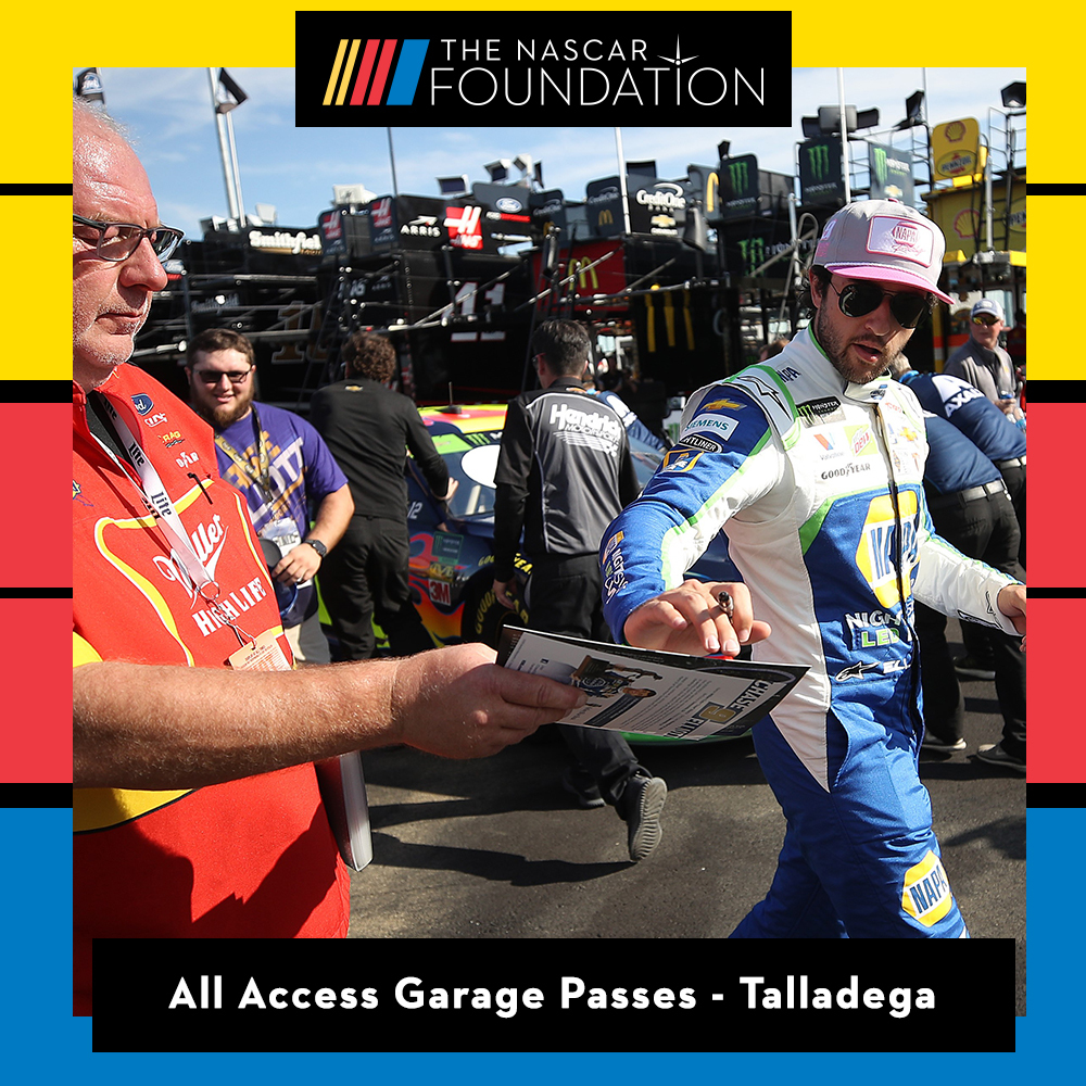 Two All Access NASCAR Garage Passes at Talladega Superspeedway!