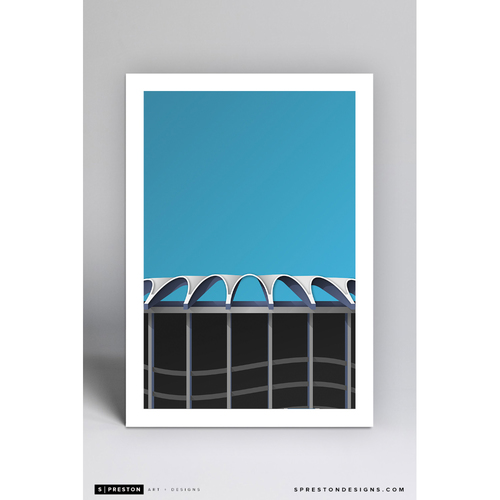 Photo of Busch II - Minimalist Ballpark Art Print by S. Preston  - St. Louis Cardinals