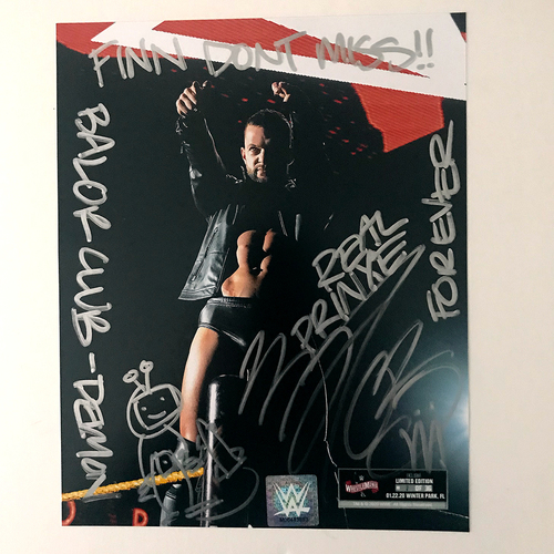 Photo of Finn Bàlor SIGNED WrestleMania 36 Exclusive Photo (#1 OF 36)