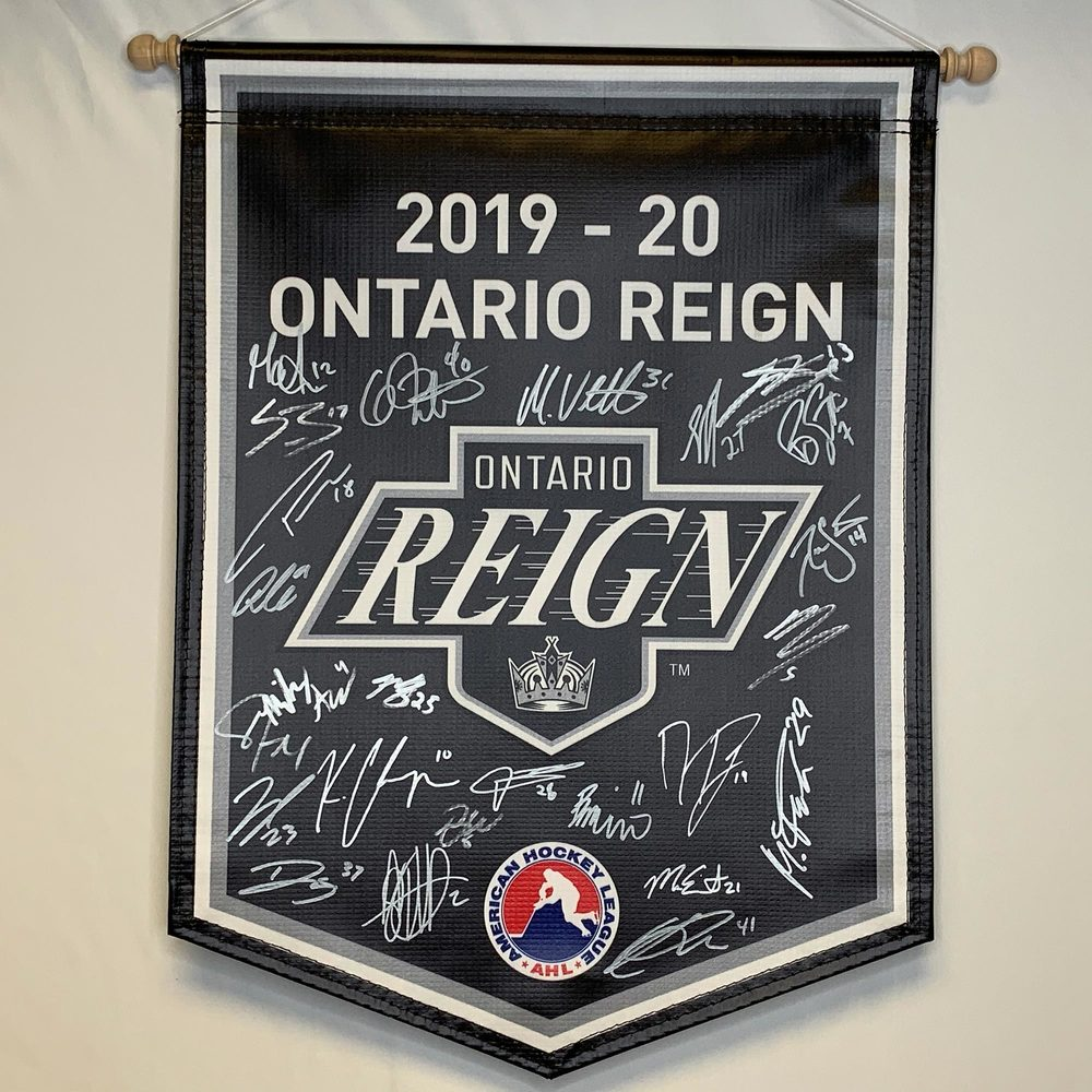 2019-20 Ontario Reign Team-Signed Banner