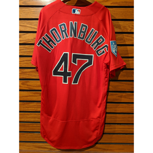 Tyler Thornburg Team Issued Red Spring Training Jersey